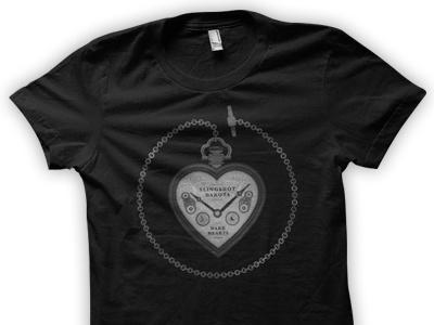 Slingshot Dakota Dark Hearts slingshot dakota topshelf records design illustration dark hearts shirt vinyl record cd music band
