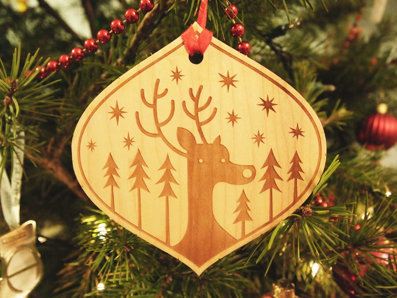 Xman Xmas Ornament christmas christman ornament illustration design laser wood cut laser wood tree