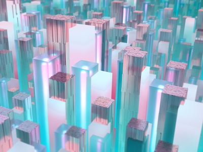 Cube Forest-2 illustration 3d art