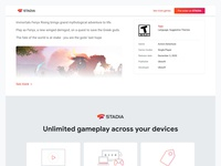 Immortals Fenyx Rising on Stadia gaming ui