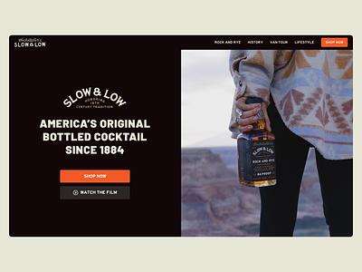 Slow & Low Website ui marketing alcohol web