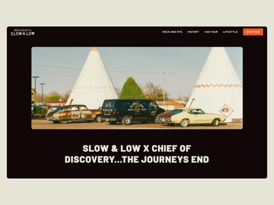 Slow & Low Website marketing ui alcohol web