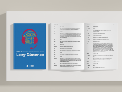 Reply All, Long Distance: The Book [Speculative] typography magazine book podcast