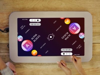 PlayTable — Menu UI ux ui list menu circles tabletop tangible games gaming