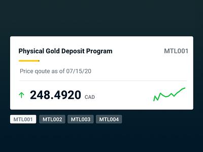 Gold Deposit Program typography navigation illustration website design ui