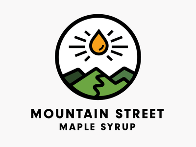 Mountain Street Maple Syrup maple syrup icon illustration typography vector branding logo design