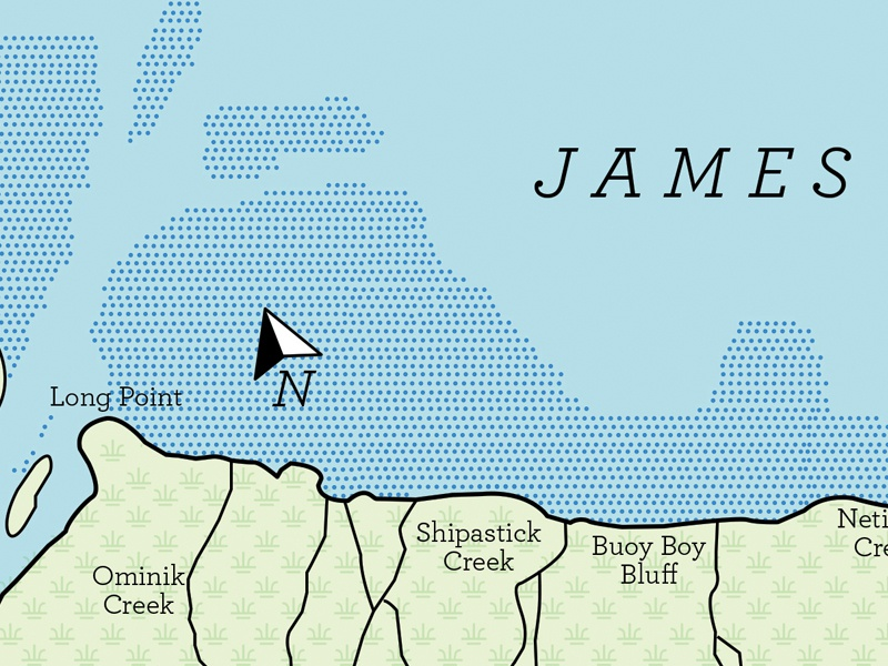 Map Of Canada James Bay.James Bay Map By Jeff Kielman Dribbble Dribbble
