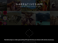 Narratives app welcome page