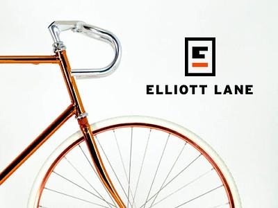 Elliott Lane Bicycles letter bicycles bikes logo branding type