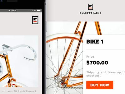 Elliott Lane Bicycles ui bikes shopify e-commerce
