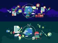 Illustration on the theme of media