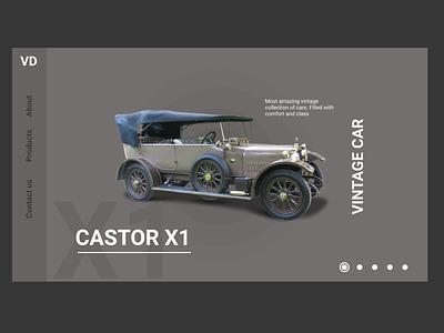Vintage Car - Product Page typography logo branding animation web ux ui illustration design art