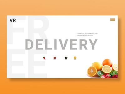 Free Delivery - Promotion Page animation website logo graphic design web ux ui illustration design art