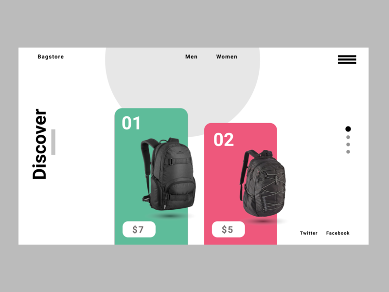 BagStore - Landing Page app website graphic design animation typography ux ui illustration design art