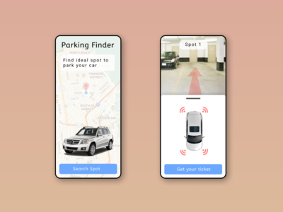 Parking finder - App web website app graphic design typography ux ui illustration design art