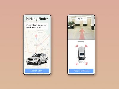 Parking finder - App web website app graphic design typography ux ui illustration design art