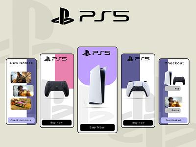 PS5 - App Design web app animation graphic design typography ux ui illustration design art