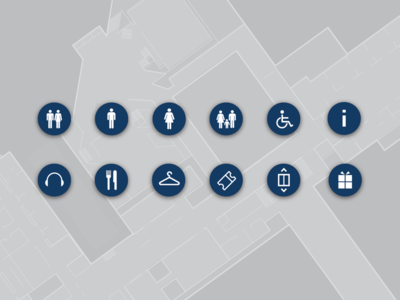 Map amenity icon design