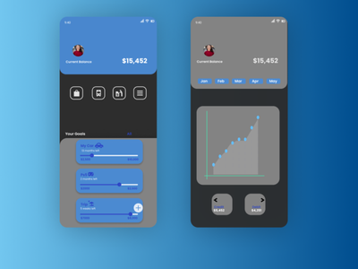Expense tracking basic figma wallet app android ui