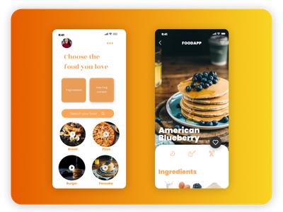Cooking app ui 2 cooking app figma template design basic app android ui