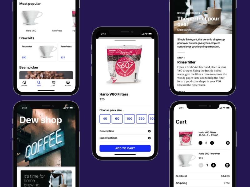 Prototype coffee shop app swiftui mobile app design ios