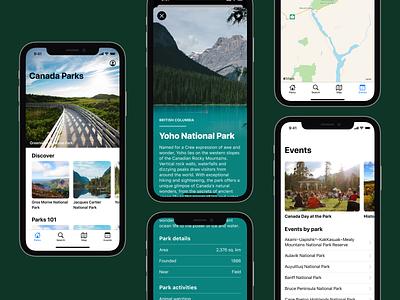 Prototype parks app swiftui mobile app design ios