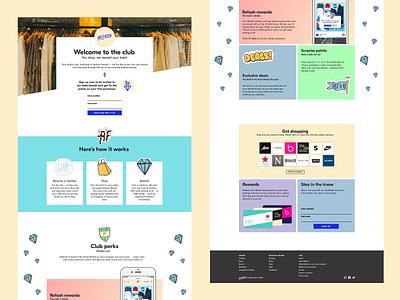 Refash homepage website design