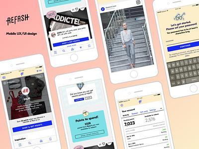 Refash mobile app mobile app design ios