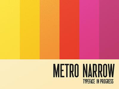 Metro Narrow retro colourbars