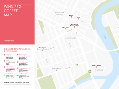 Winnipeg Coffee Map WIP coffee map