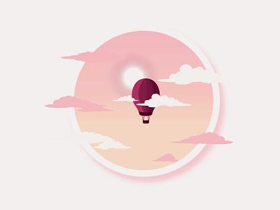 Flying High vector illustration vector travel minimalist minimal landscape illustration landscape illustration flat design