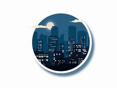city at night city vector landscape illustration vector illustration minimal illustration flat design
