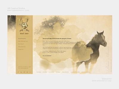 Vintage Royal Property Website Design - Landing concept website web ux ui pastel nature minimal landing page landing illustration design art