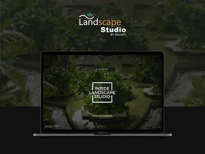 Landscape Studio Website Design | Studio Tour web ux ui design hardenrahul creative website design studio