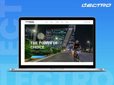 HERO LECTRO E-CYCLES UIUX Design : Lectro E-Bike Web Design website concept cycle website website hero lectro hero lectro branding uiux website design