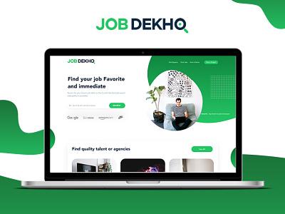 JOB DEKHO :: Website Design - Job website UI/UX ux ui hardenrahul design job portal uiux job web deisgn job web deisgn job website website design