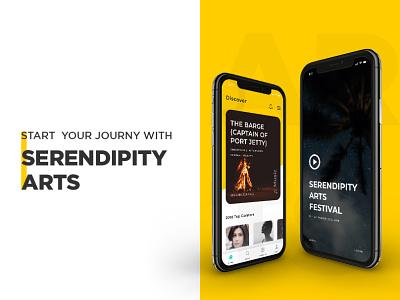 Serendipity Arts :: Mobile App Design ux ui hardenrahul arts app design arts app design application design splashscreen uiux design mobile app design app design