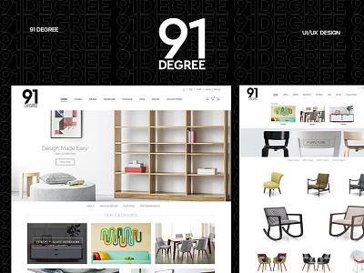 91 Degree :: Lifestyle & Interiors Website Design ecommerce shop design web ecommerce design interior website lifestyle web design furniture ecommerce ui ux illustration branding creative