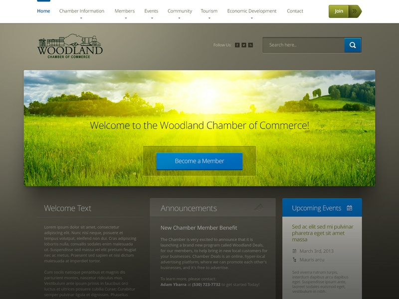Chamber of Commerce Website chamber of commerce website design modern fresh
