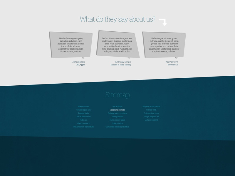 Freebie: Funky Testimonials testimonials comments funky crooked sitemap flat free psd