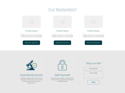 Freebie: Products and Boxes product eshop buy button box icons safe payment science contact form free psd