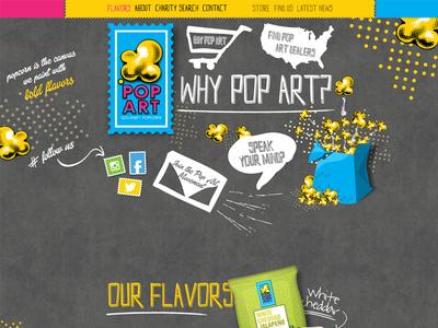 Hipster Popcorn Website