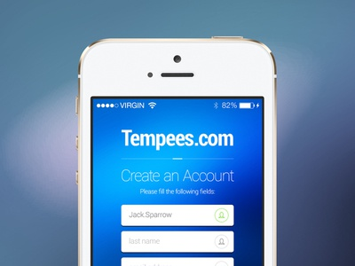 Freebie: iOS Sign Up Screen