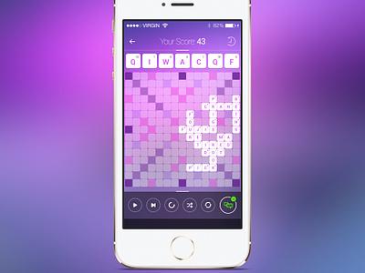 Freebie: Scrabble iOS Game scrabble ios game screen play fun template gameplay free psd