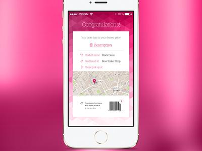 Freebie: Shopping App Coupon shopping app ios coupon groupon sale description map barcode psd free