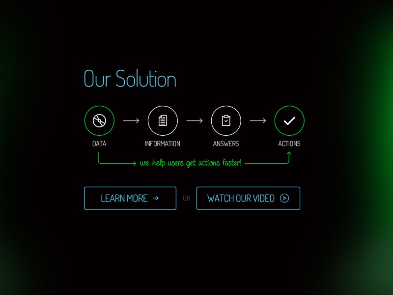 Freebie: Solution Infographics solutions content infographics process flow icon button free psd