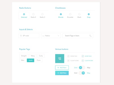 Freebie: UI Elements ui elements input checkbox radio select button swith tag free psd