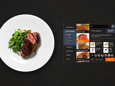 Freebie: Restaurant Order Interface restaurant food order drink eat interface app free psd