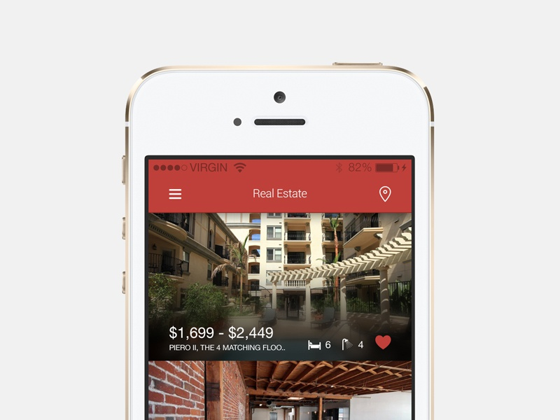 Freebie: Real Estate Listings real estate list listing app ios for sale reality psd free