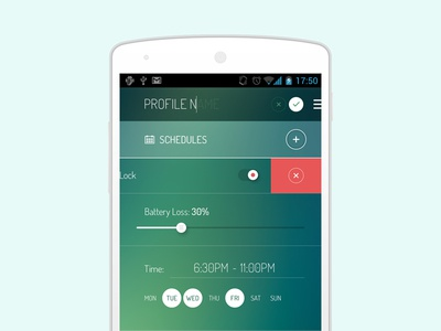 Freebie: Android Settings Screen